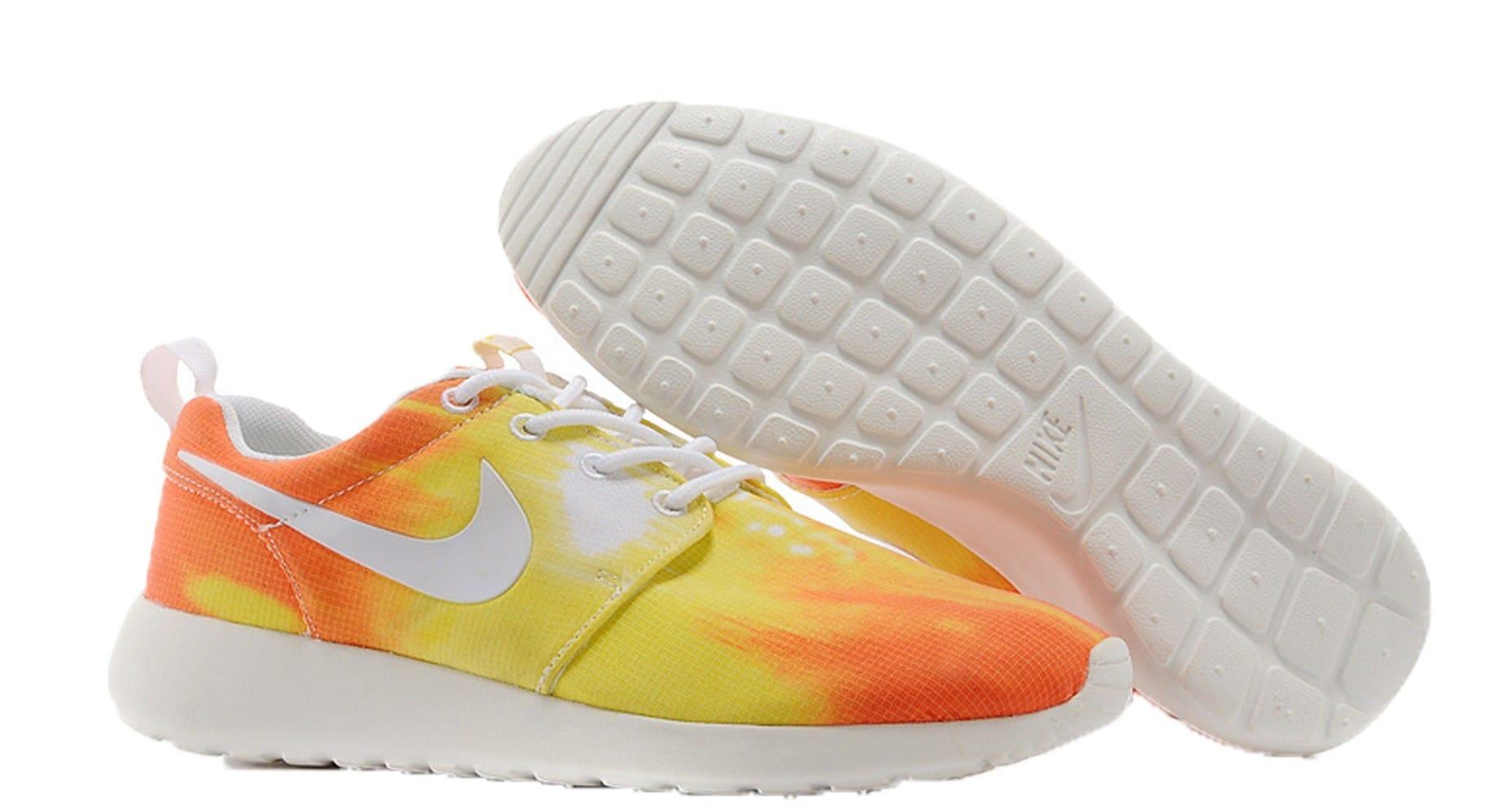 Nike Roshe Run Gris Y Naranja