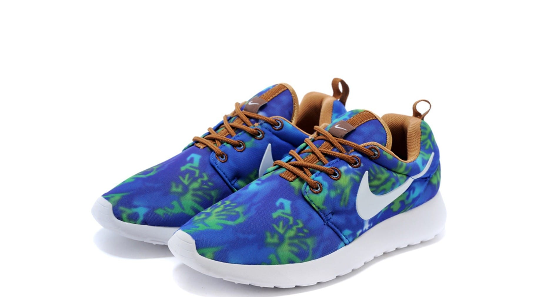 Nike Roshe Run Azules Y Naranjas