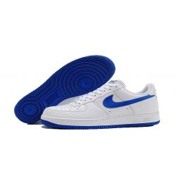 NIKE AIR FORCE ONE LOW BLANCAS LOGO AZUL