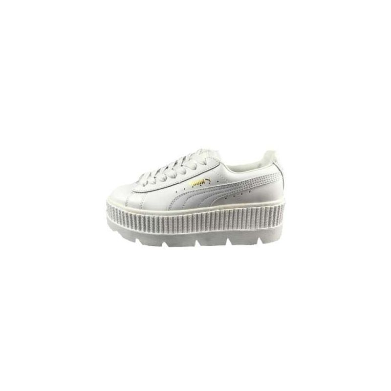 Puma Fenty Suede Cleated Creeper Blancas