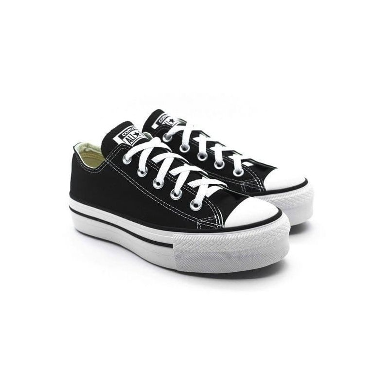 converse all star negras plataforma