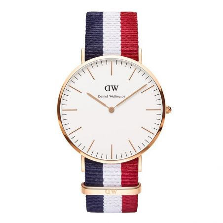 DANIEL WELLINGTON AZUL, BLANCO Y ROJO MODEL 2