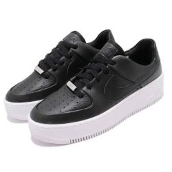 Nike Air Force One Negras Plataforma