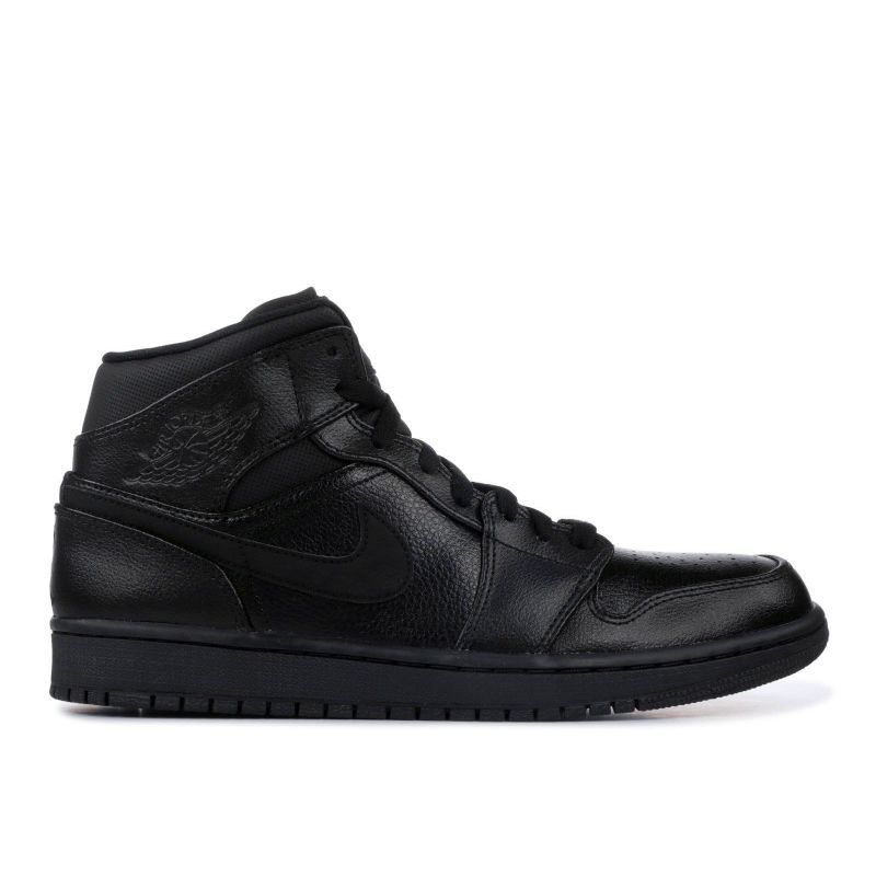 Nike Air Jordan 1 One Mid Negras