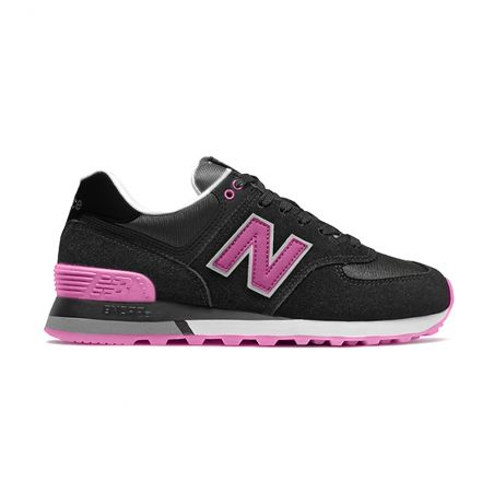 "New Balance Classic Model ""574"" NEGRAS/ROSA"