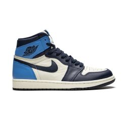Nike Air Jordan One Mid Azul Negro