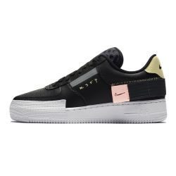Nike Air Force One Type AF1 Negra suela blanca