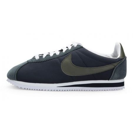 NIKE CORTEZ CLASSIC GRIS OSCURO VERDE