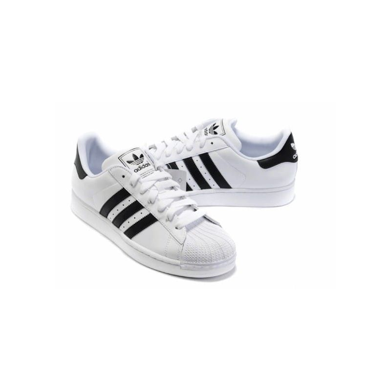 superstar adidas blancas y negras
