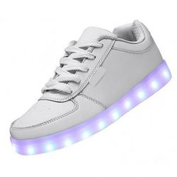 LED SHOES LOW BLANCAS