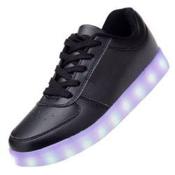 LED SHOES Low Negras