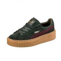 PUMA CREEPER VERDE BURDEOS