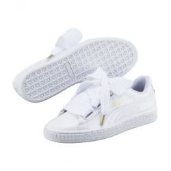 Puma Basket Heart Blancas
