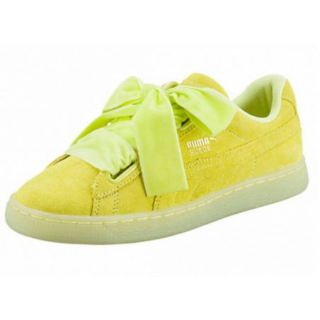 PUMA BASKET HEART AMARILLAS